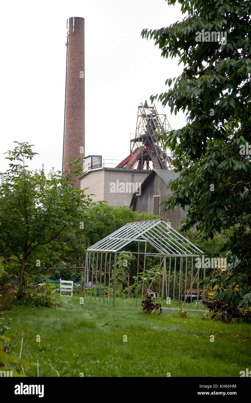 Dans l'industrie de fer abandonnée hälleforsnäs, södermanland après 350 ans l'usine Photo Stock