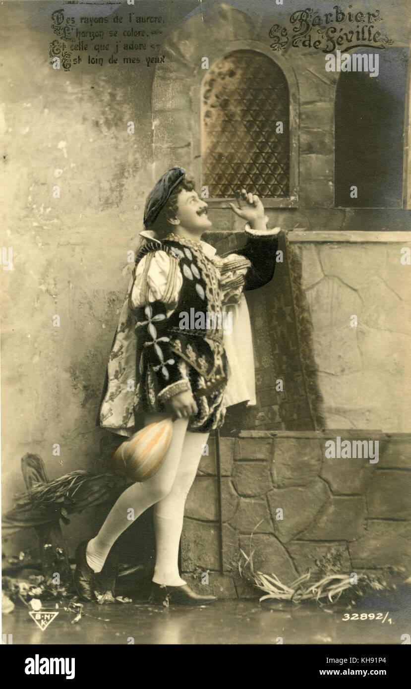 Le barbier de Séville (Le Barbier de Séville) de Gioachino Rossini: compositeur italien: 29 Photo Stock