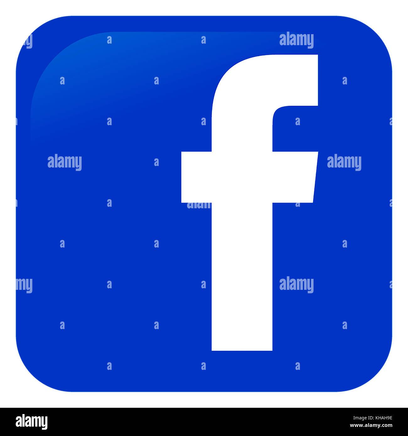 Logo de facebook, réseau social Photo Stock