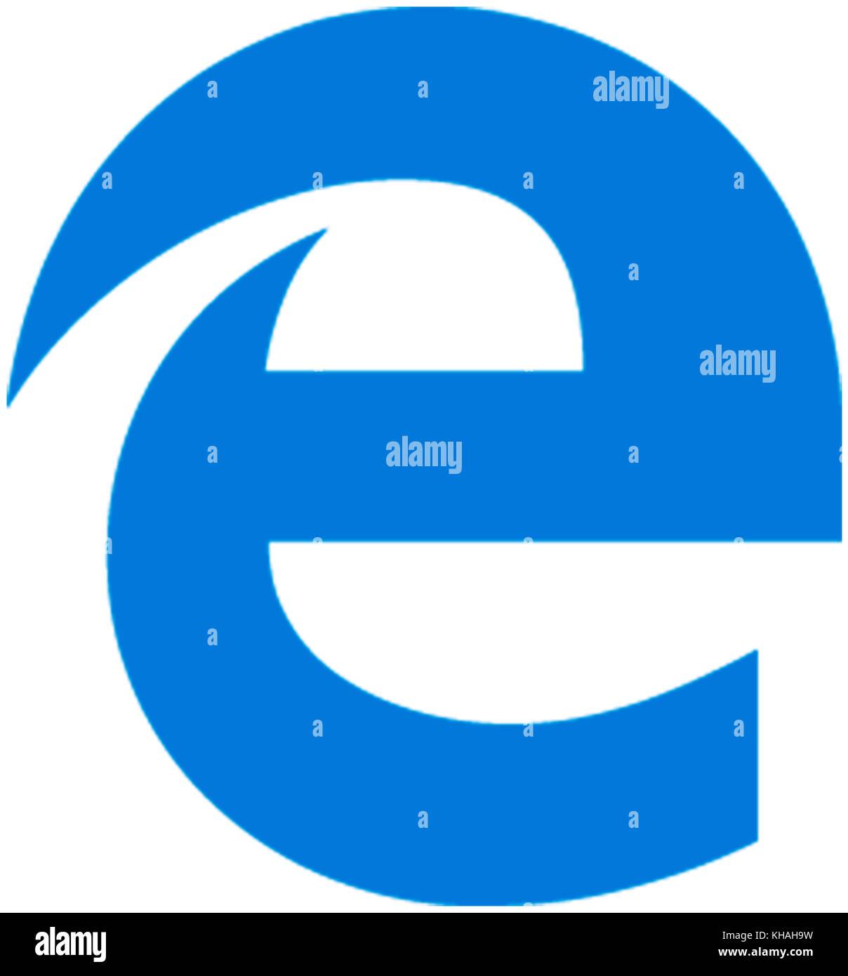 Logo de l'internet explorer, le navigateur web de Microsoft Photo Stock