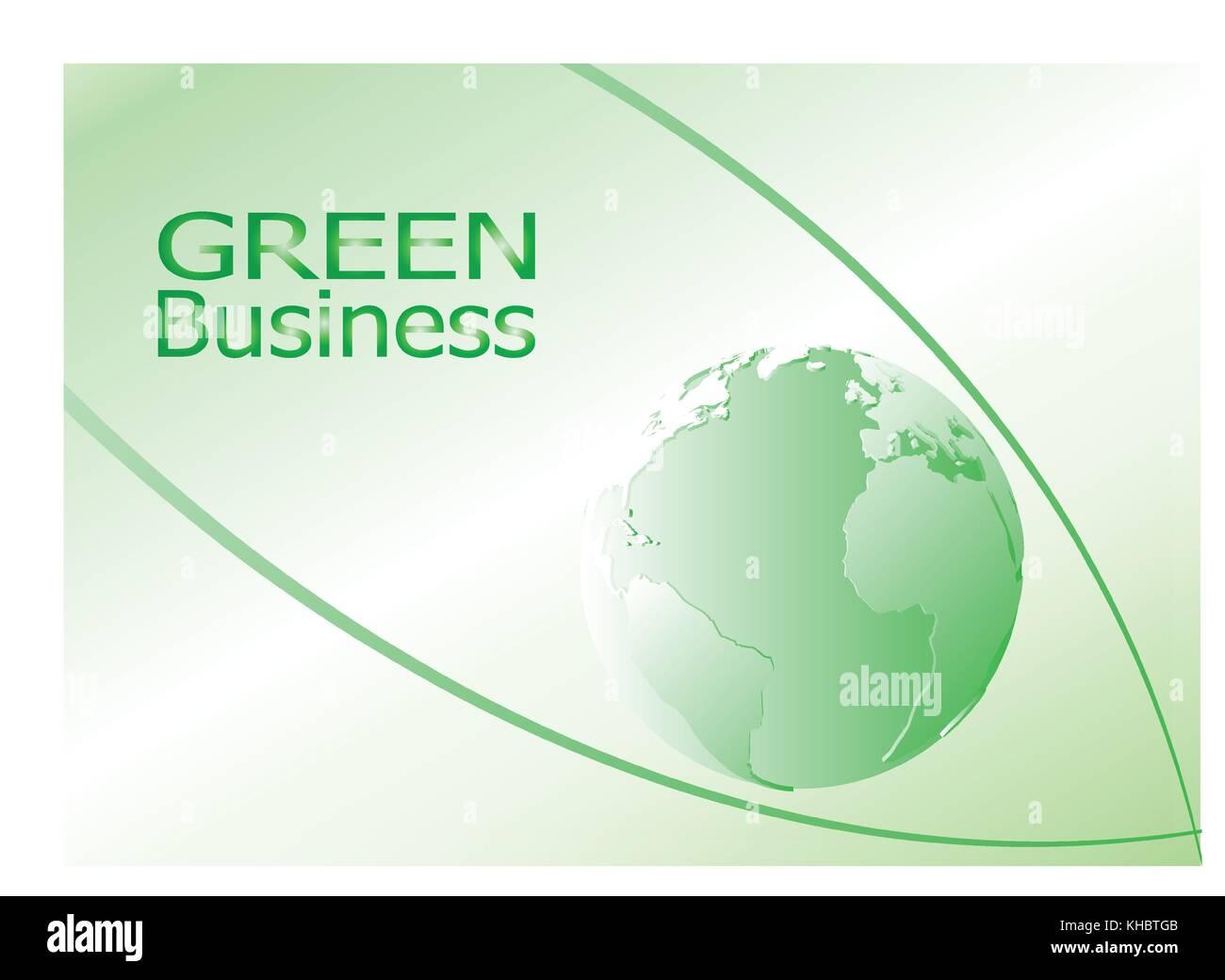 Green Business background vector. Il peut être appliqué pour les types de médias présentation Photo Stock