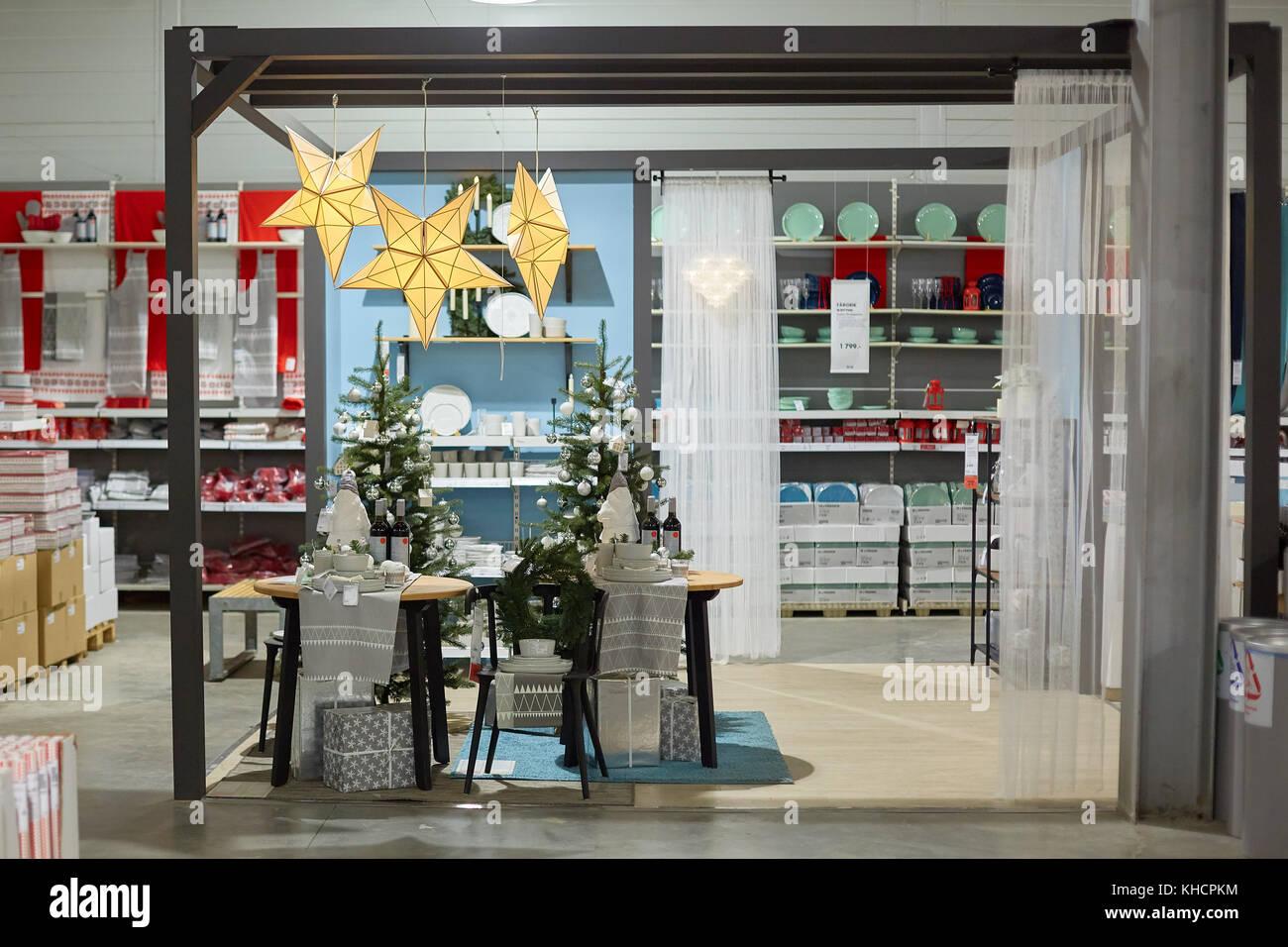 samara russie 15 novembre 2017 nol dcoration intrieur magasin ikea