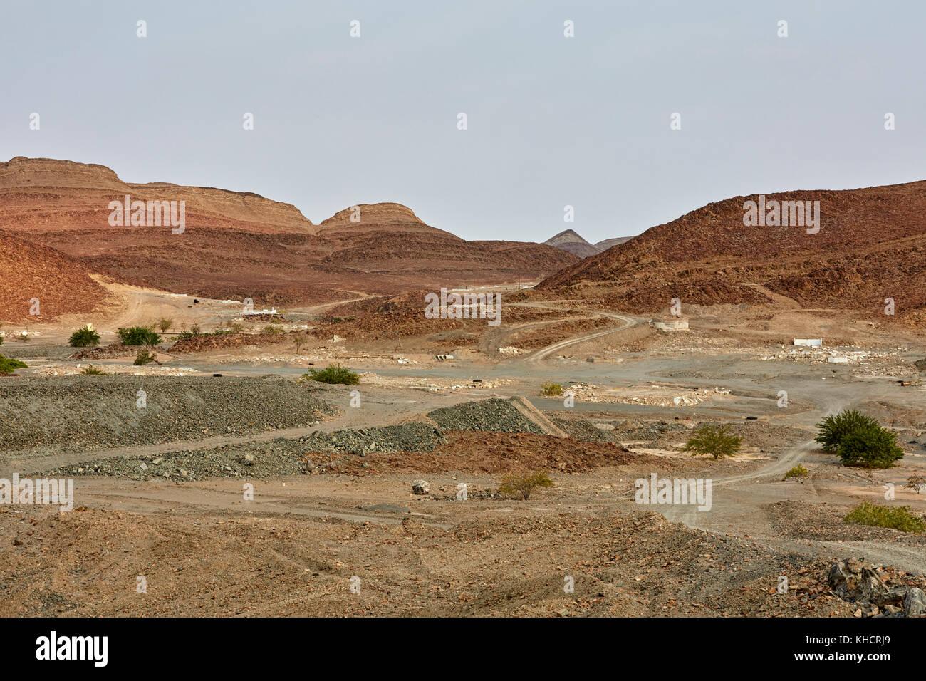 Brandberg Mine Ouest, Khorixas District, région de Kunene, Namibie, Afrique Banque D'Images