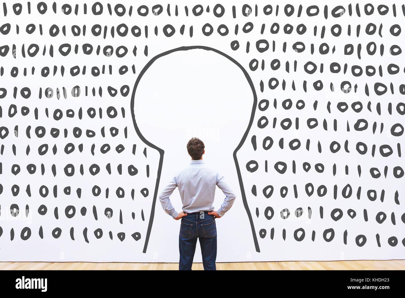 L'accès aux données numériques sur serveur, login sécurisé concept Photo Stock