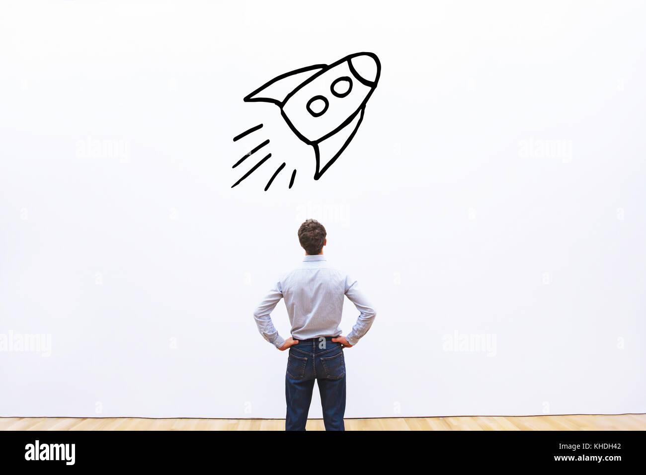 Le concept du projet de démarrage d'entreprise Photo Stock