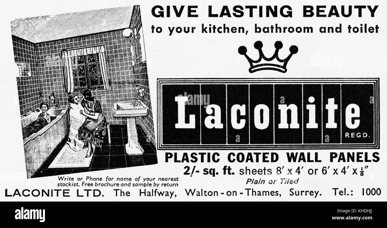 Old England Salle De Bain ~ 1950 old vintage advert original magazine anglais imprimer publicit