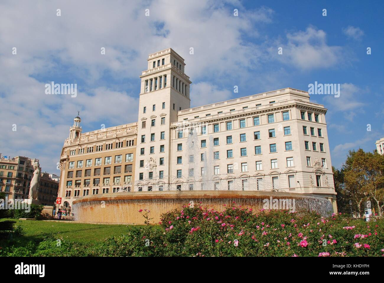 Carte Barcelone Place Despagne.L Historique Place De Catalogne A Barcelone Espagne Le 1 Novembre