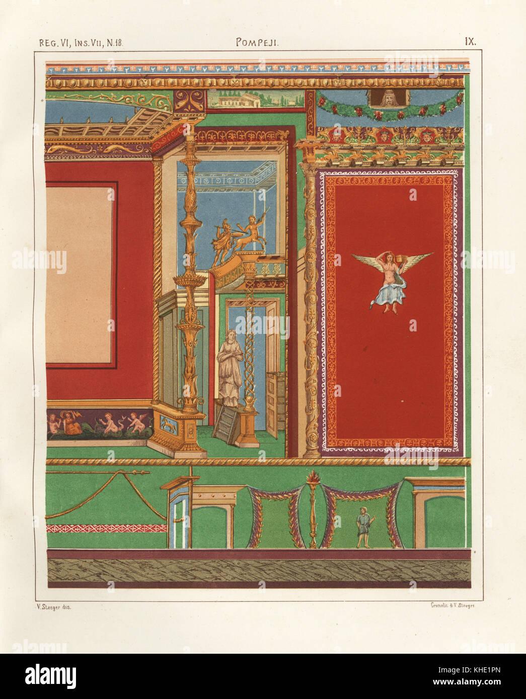 peinture murale dune chambre la domus m asellini ou maison dadonis ou maison de vnus et adonis ou casa di ione ou casa con xyste reg vi718