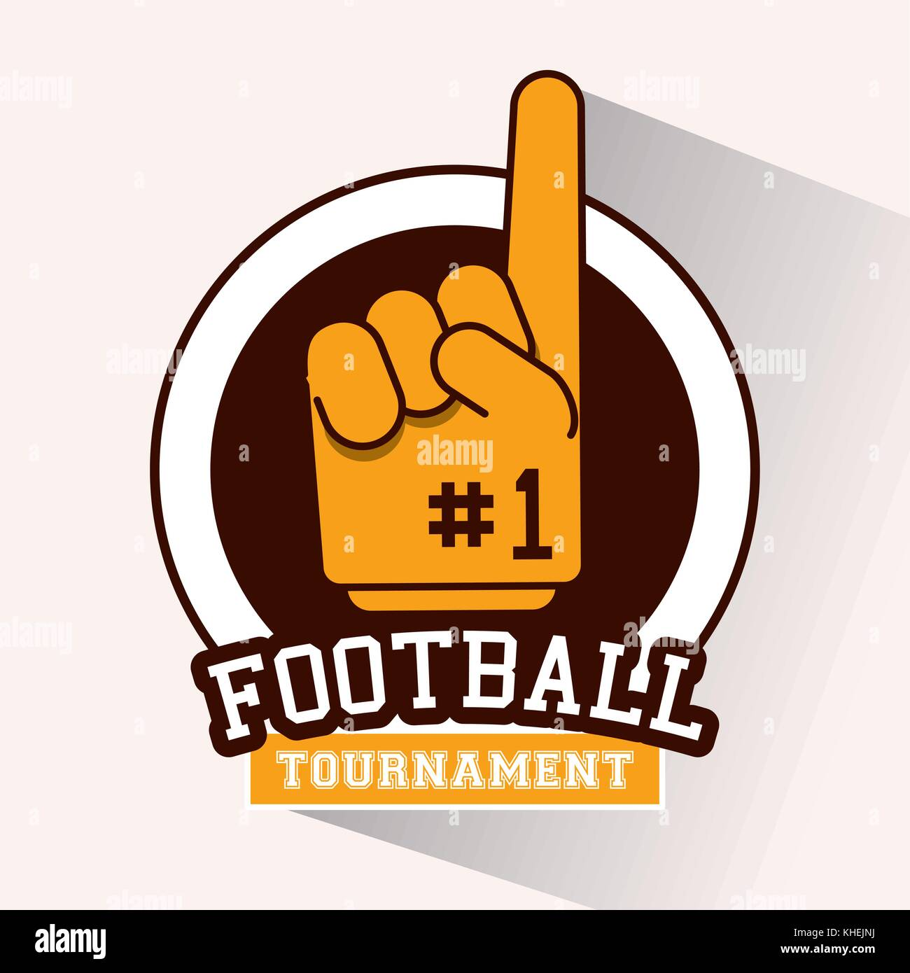 Tournoi de football américain Photo Stock