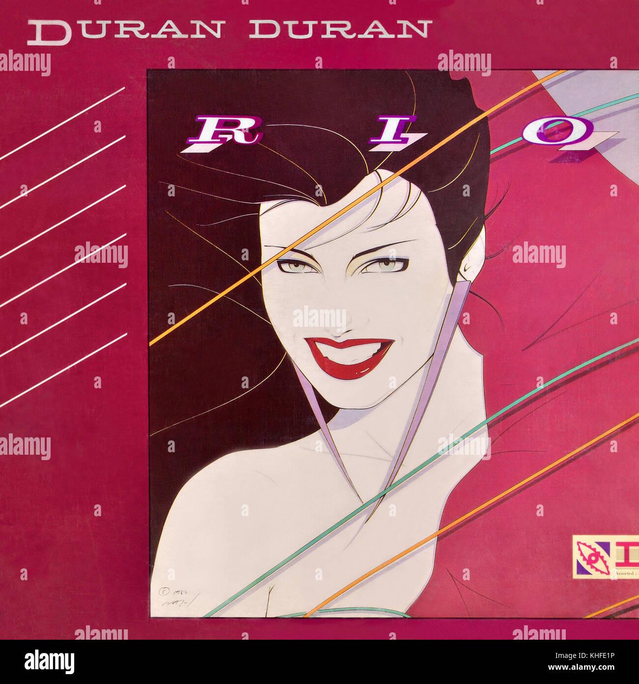 Duran Duran - couverture de l'album vinyle original Rio - 1982 Banque D'Images