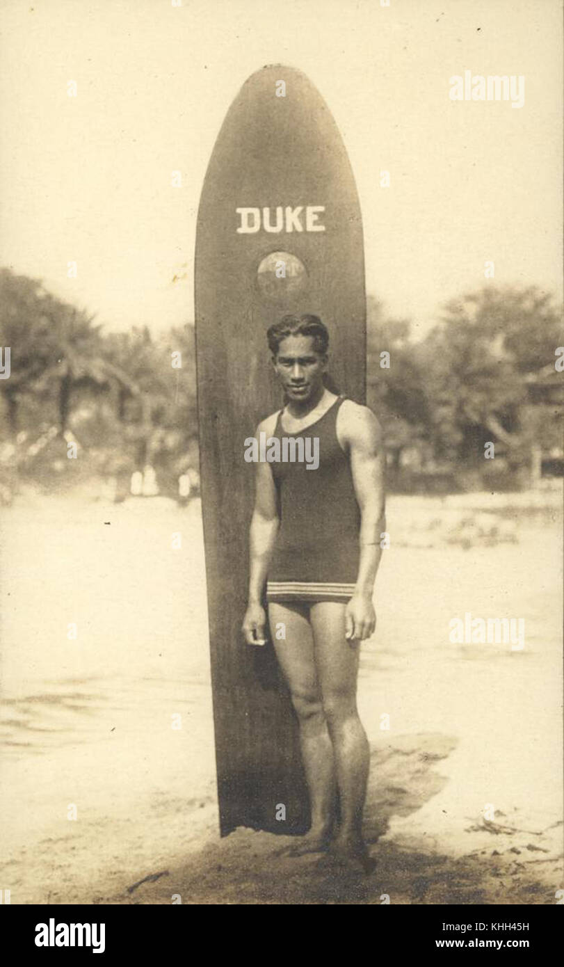 2233981 surf Hawaiien Duke Kahanamoku, exposant Photo Stock