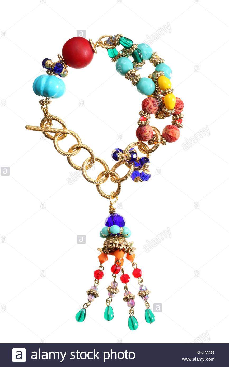 Bracelet bijoux isoler sur fond blanc et clipping path Photo Stock 4ccd89a3966d