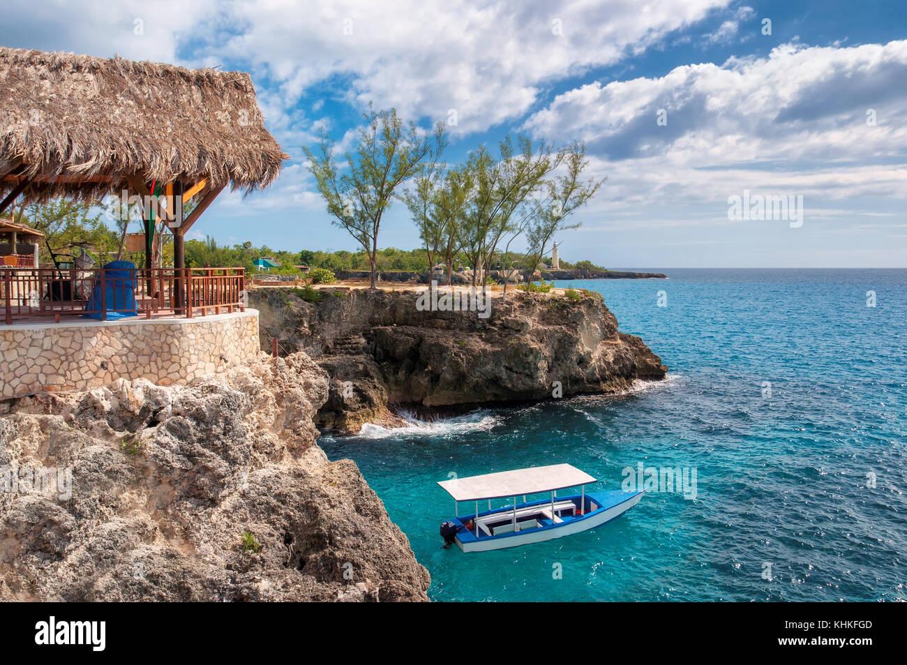 Mer des Caraïbes à Negril, Jamaïque. Banque D'Images