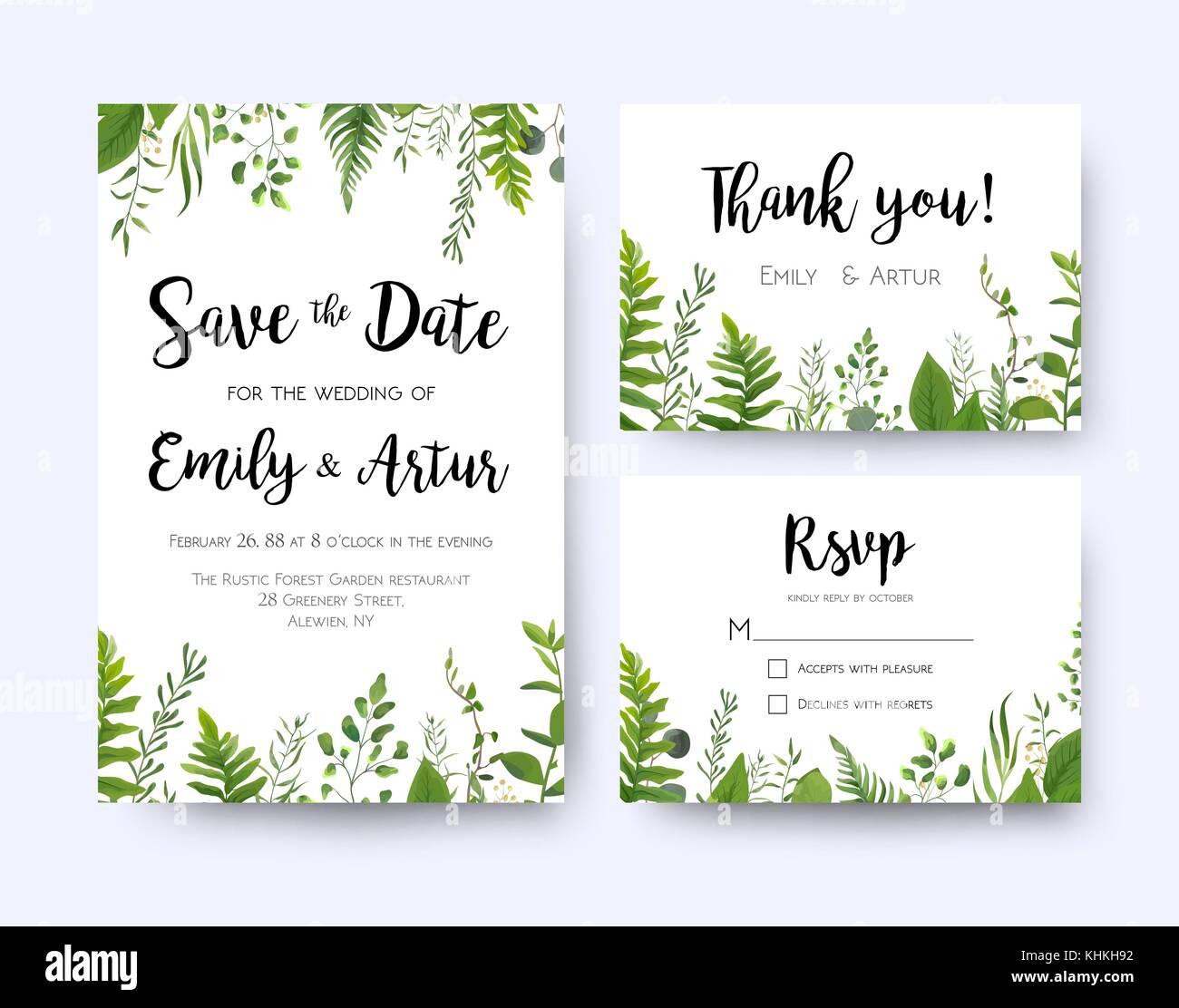 Invitation Mariage Invitation Carte De Remerciement Rsvp Menu