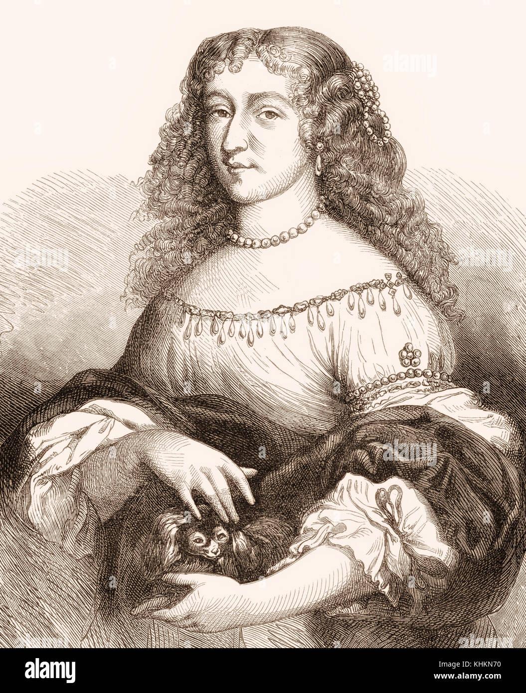 Christina ou Kristina de Suède, 1626 - 1689, la reine de Suède Banque D'Images