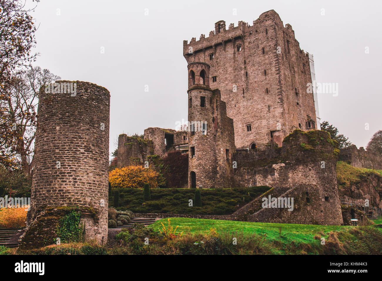 Blarney, IRLANDE - Le château de Blarney, une forteresse médiévale à blarney, près de Cork, en Irlande, et de la Banque D'Images