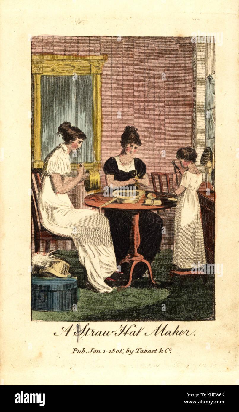 2d3d8a04e2465 Chapeau de paille, décideurs, les femmes et les petites filles, la couture  chapeaux
