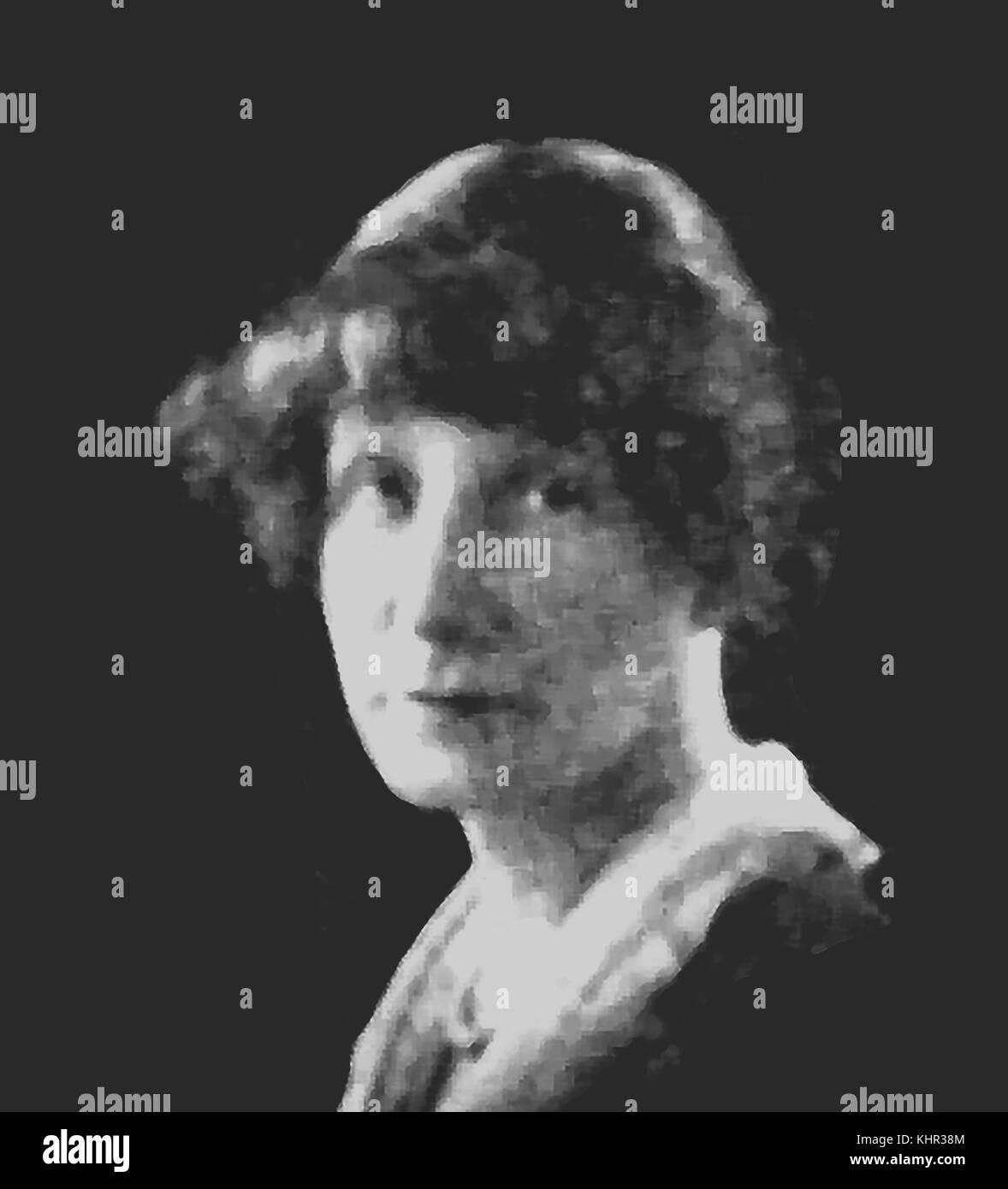 Marjorie Bowen (Mme Margaret Gabrielle Vere Long née Campbell) 1885-1952, romancière britannique. Un portrait Photo Stock