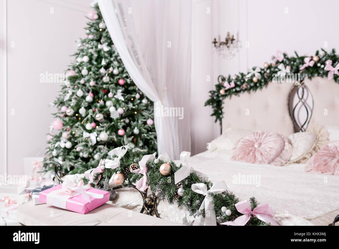 Decoration Chambre Coucher cosy christmas home intérieur. nouvelle année décoration