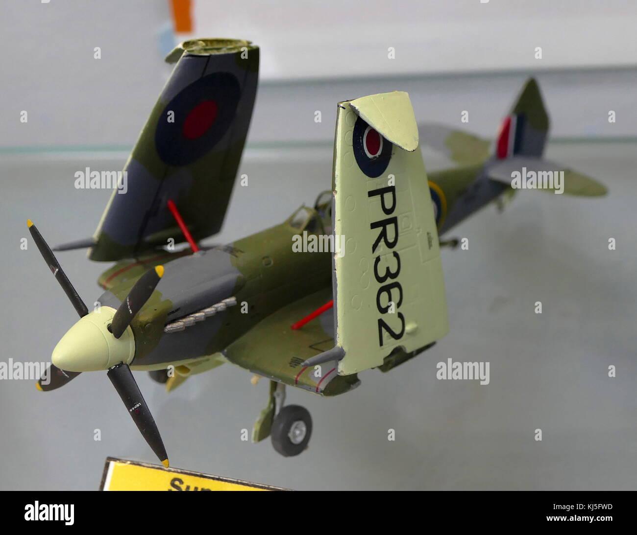 Modèle d'un Supermarine Seafire britannique 15 Avion de chasse. En date du 20e siècle Photo Stock