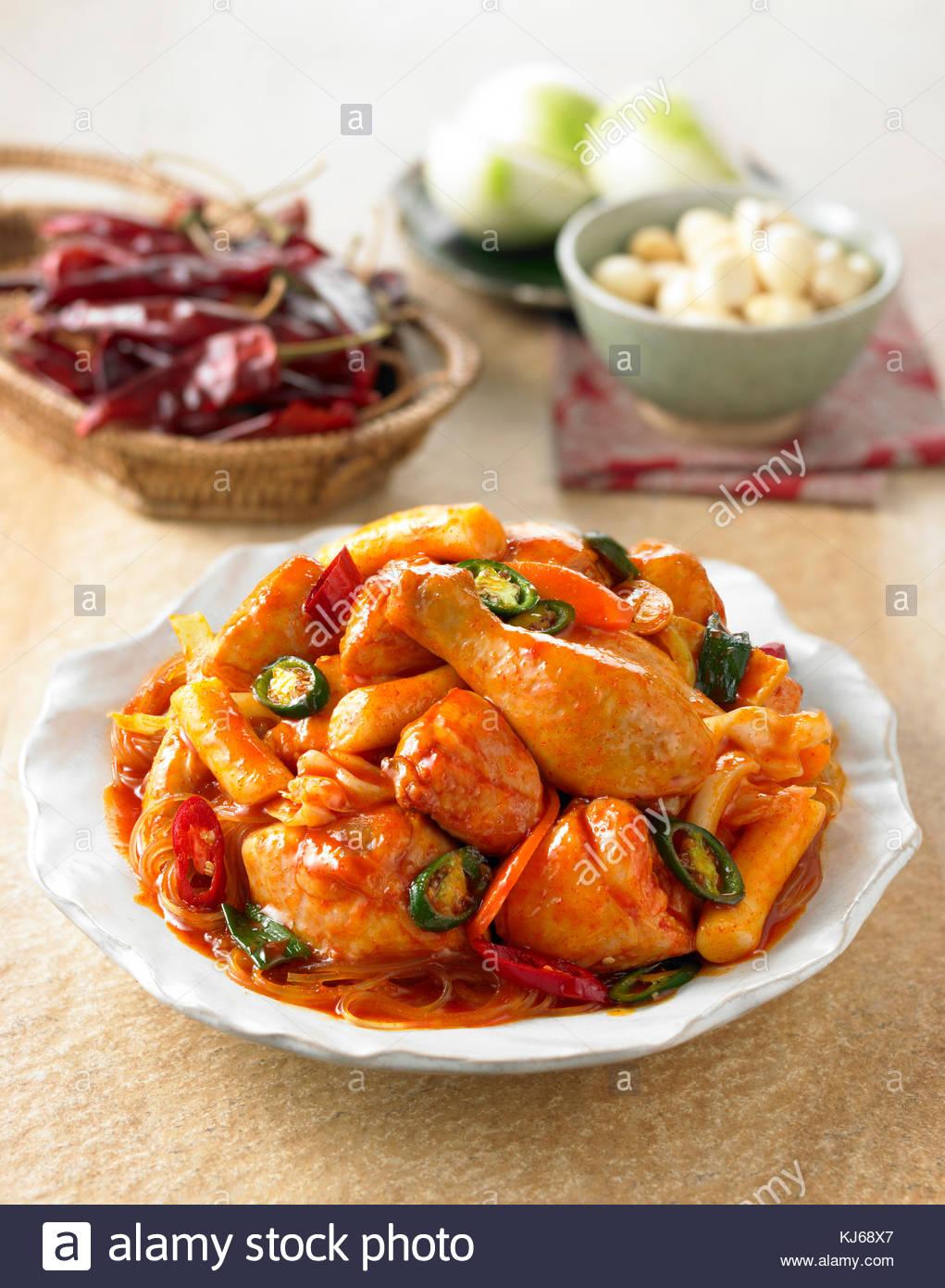 Fusion food de poulet poulet rôti Photo Stock