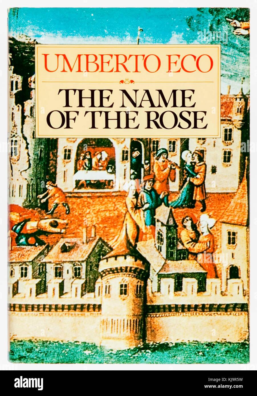 'Le nom de la Rose', 1983 Première édition en anglais de 'Il nome della Rosa' par Umberto Photo Stock