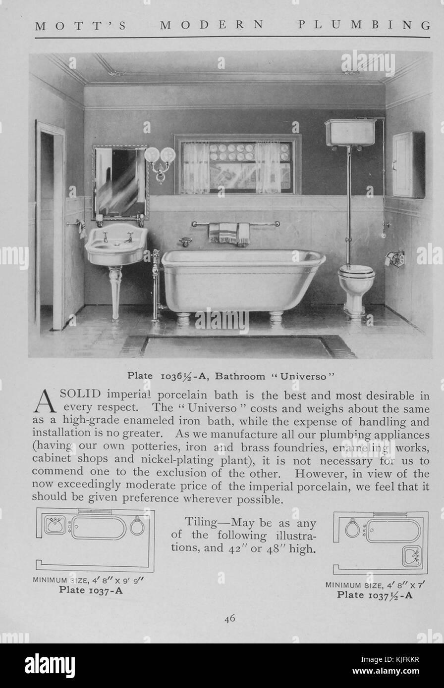 Salle de bains, universo, style 1911. à partir de la ...