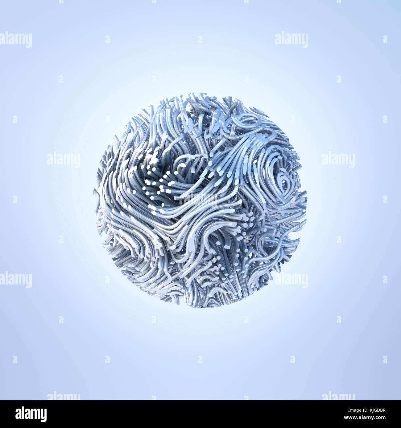 Abstract metal sphere, rendu 3D Photo Stock