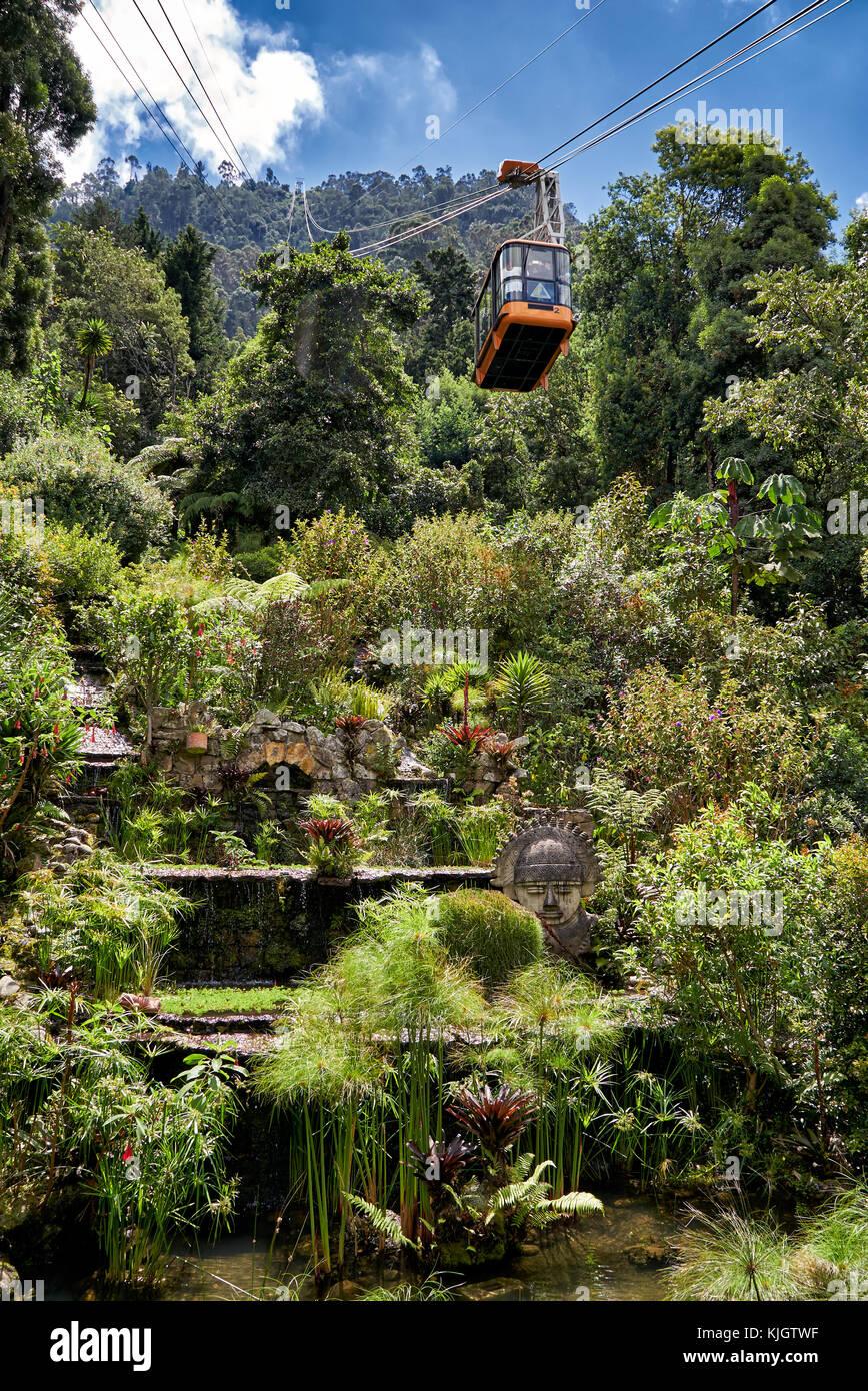 Jardin De Telepherique Bogota Colombie Amerique Du Sud Banque D