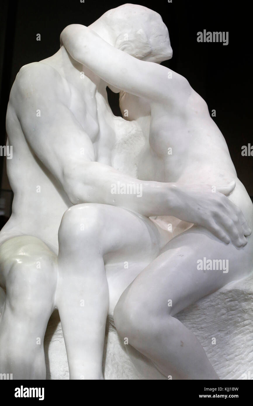 Musée Rodin, Paris. Le Baiser. En. 1888-1898. La France. Photo Stock