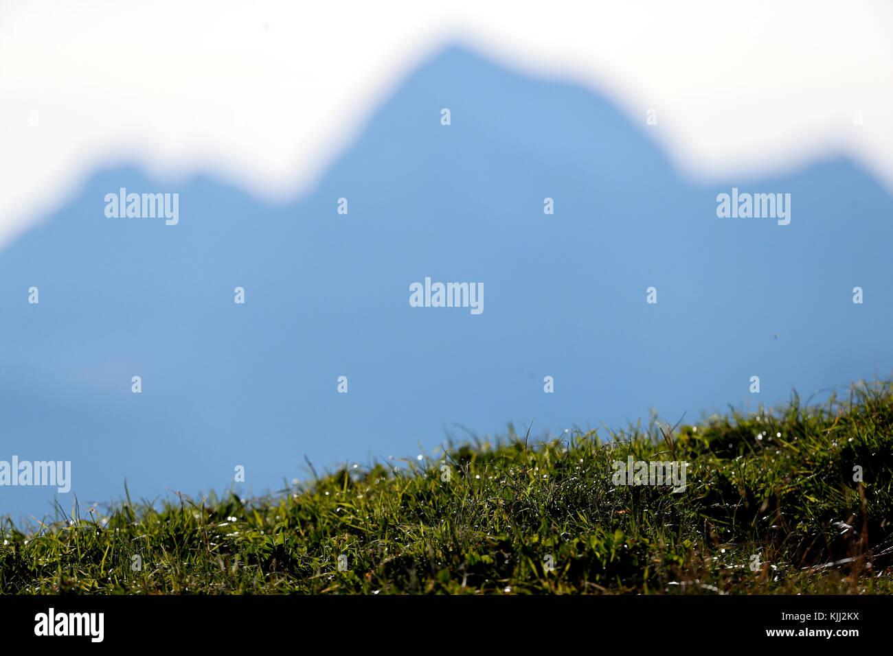 Alpes françaises. La France. Photo Stock