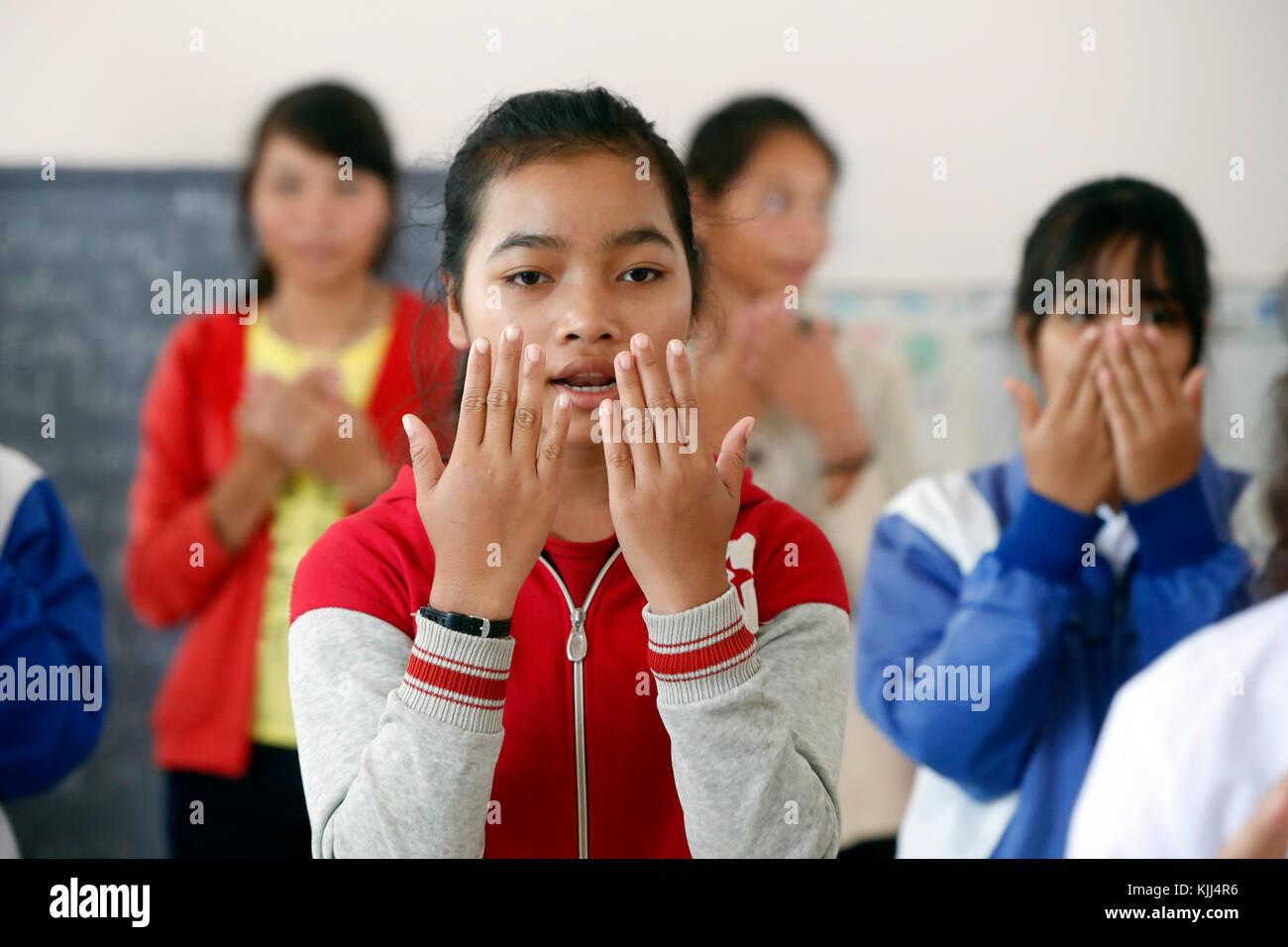 Centre pour la fille de minorités ethniques dirigés par les Franciscaines missionnaires de Marie. Photo Stock