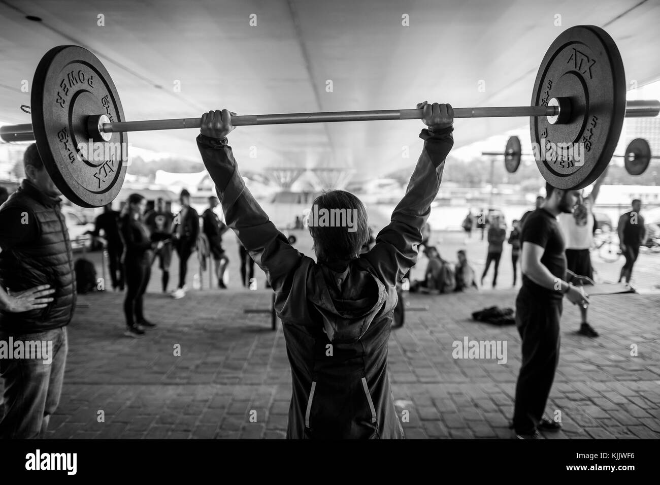 Séance CrossFit. Paris. La France. Photo Stock