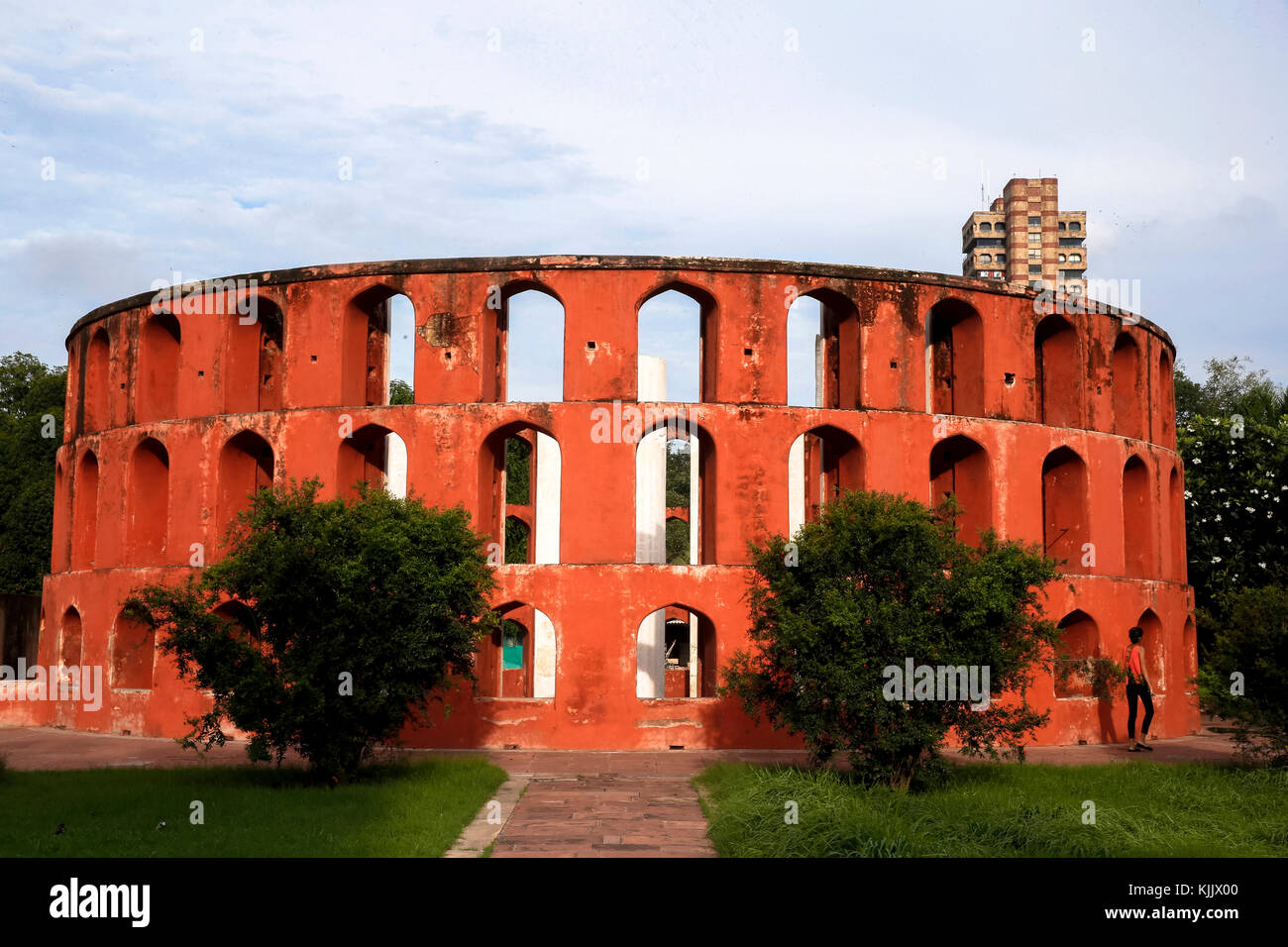Situé à Delhi, Jantar Mantar se compose de 13 instruments d'astronomie d'architecture. Le site est l'un des cinq Banque D'Images