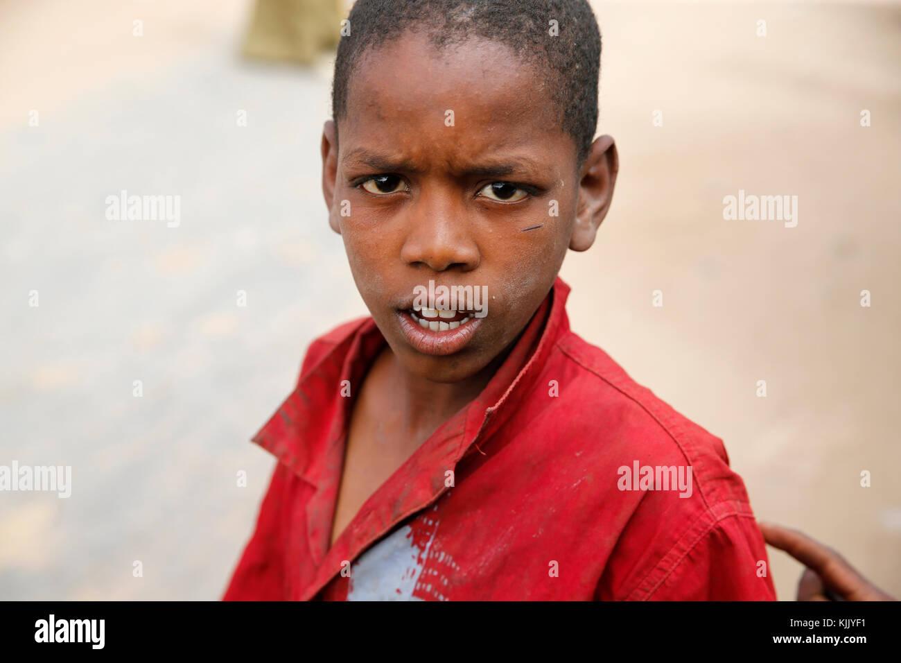 Garçon sénégalais. Le Sénégal. Photo Stock