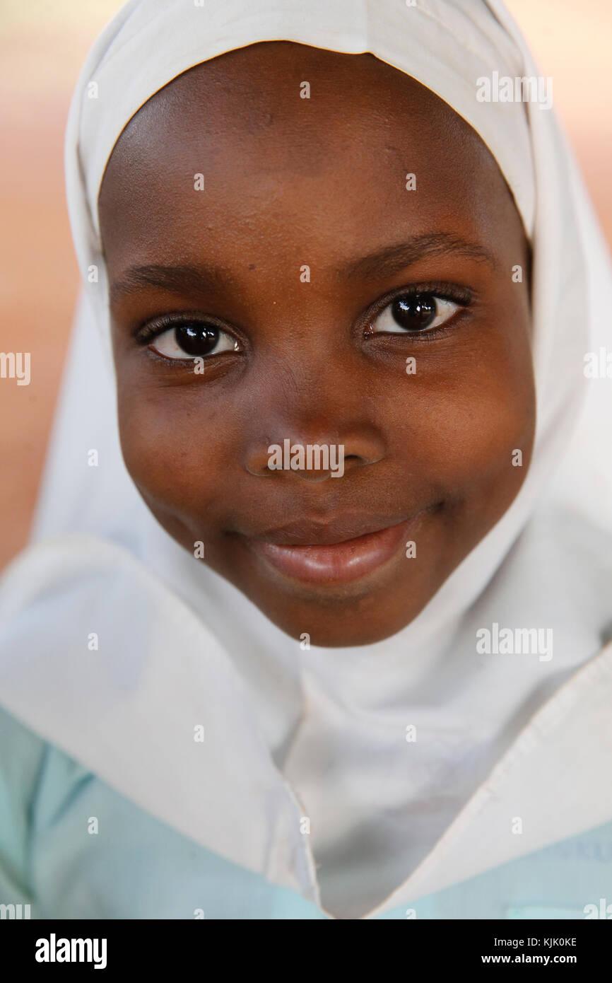 Écolière musulmane. L'Ouganda. Photo Stock