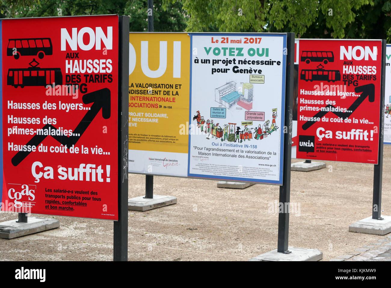 La Suisse, Genève référendum. Photo Stock