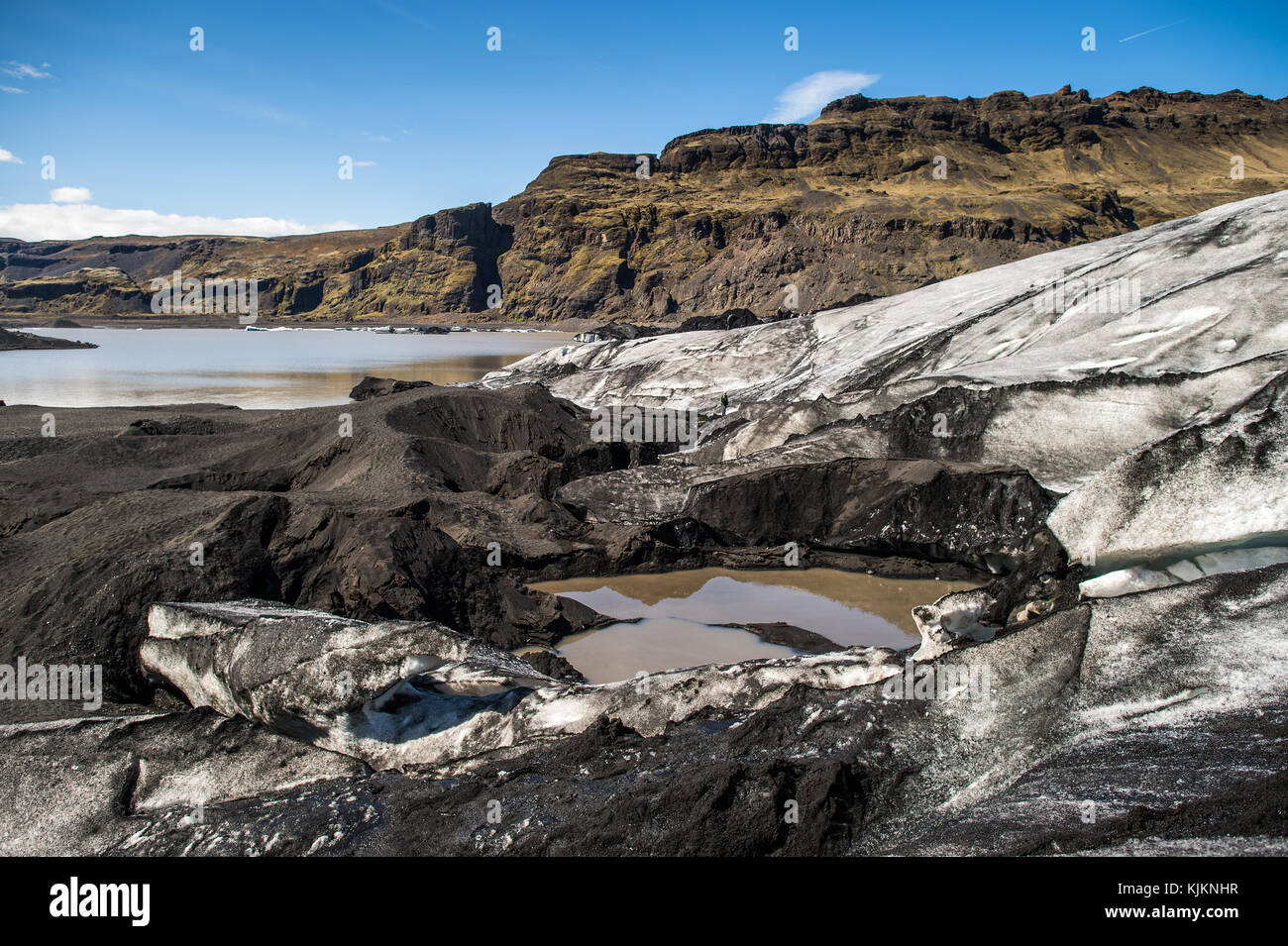 Lacs dans Su urland. L'Islande. Photo Stock