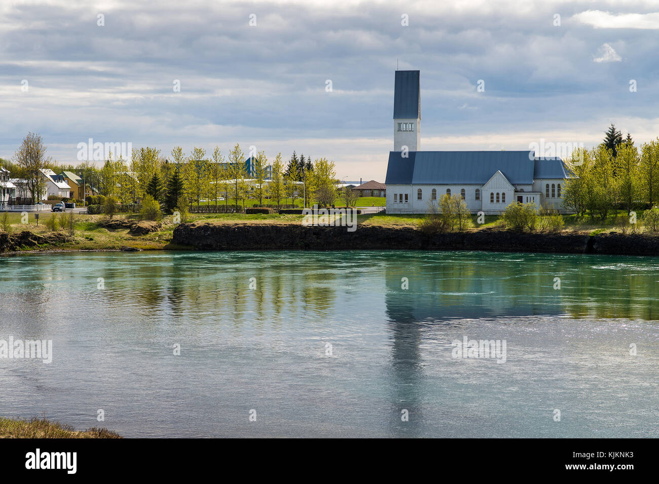 Église de Selfoss. L'Islande. Photo Stock