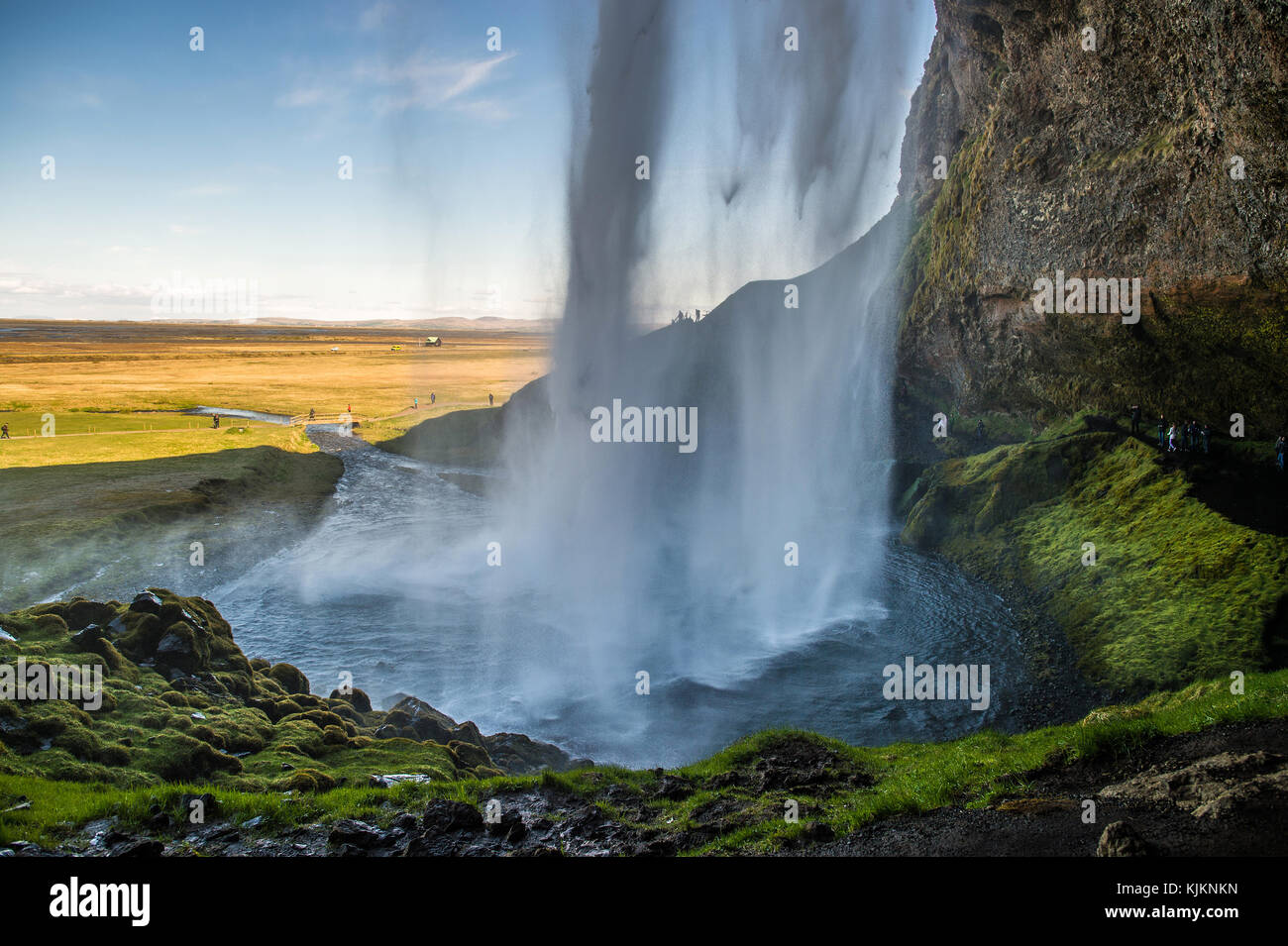Cascade de Seljalandsfoss. L'Islande. Photo Stock