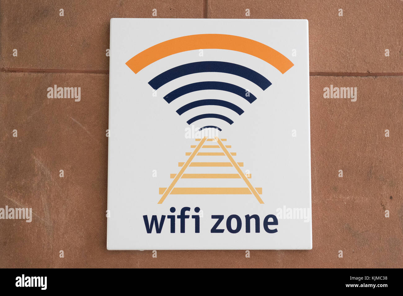 Scotrail zone wifi logo et inscription Photo Stock