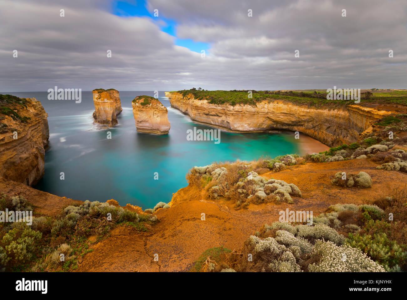 Les douze apôtres, Great Ocean Road, Port Campbell National Park, Victoria, Australie Photo Stock