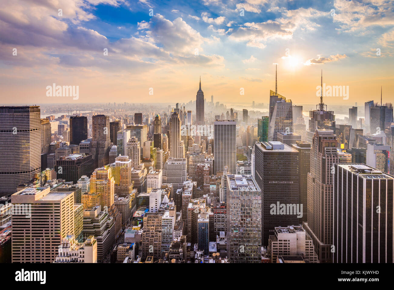 New York, New York, États-Unis d'horizon. Photo Stock