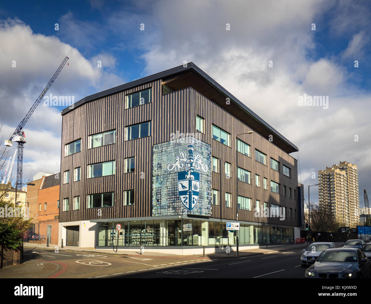Royal Pharmaceutical Society siège social à East Smithfield, East London, Royaume-Uni, ouvert en 2015, Photo Stock