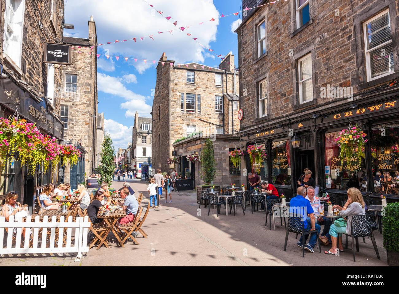 Rose Street Edinburgh scotland edinburgh ont cafés pubs et boutiques nouvelle ville d'édimbourg edinburgh Photo Stock