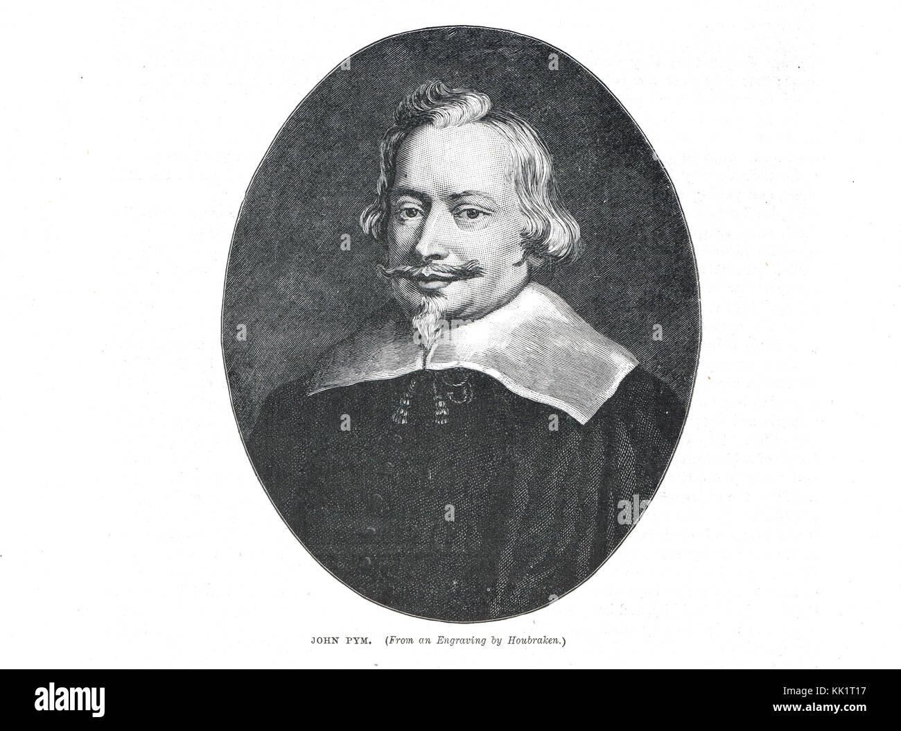 John pym, chef de l'opposition au roi, dans le long Parlement Photo Stock
