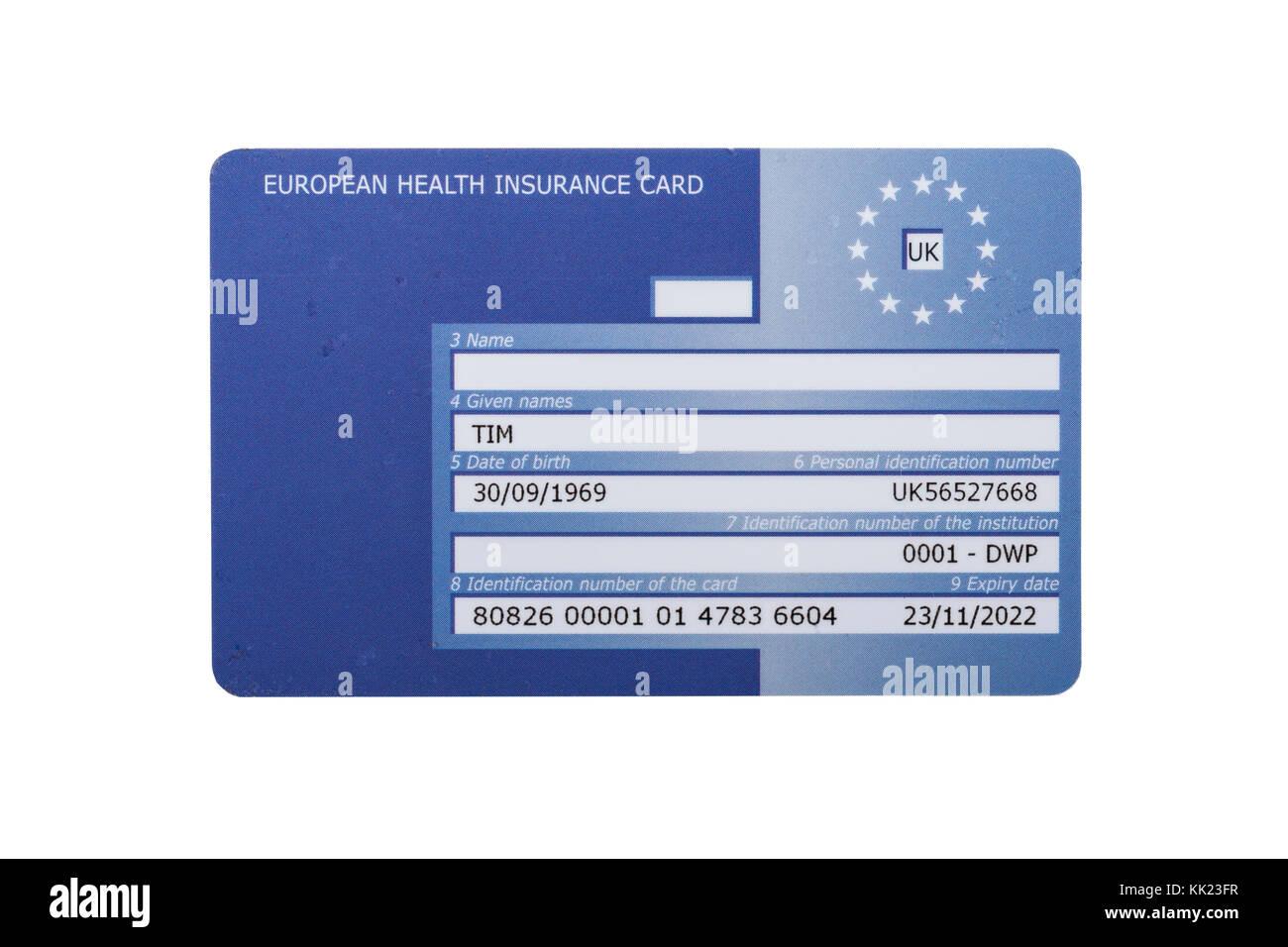 Carte Europeenne Dassurance Maladie Ceam.La Carte Europeenne D Assurance Maladie Ceam Sur Fond Blanc
