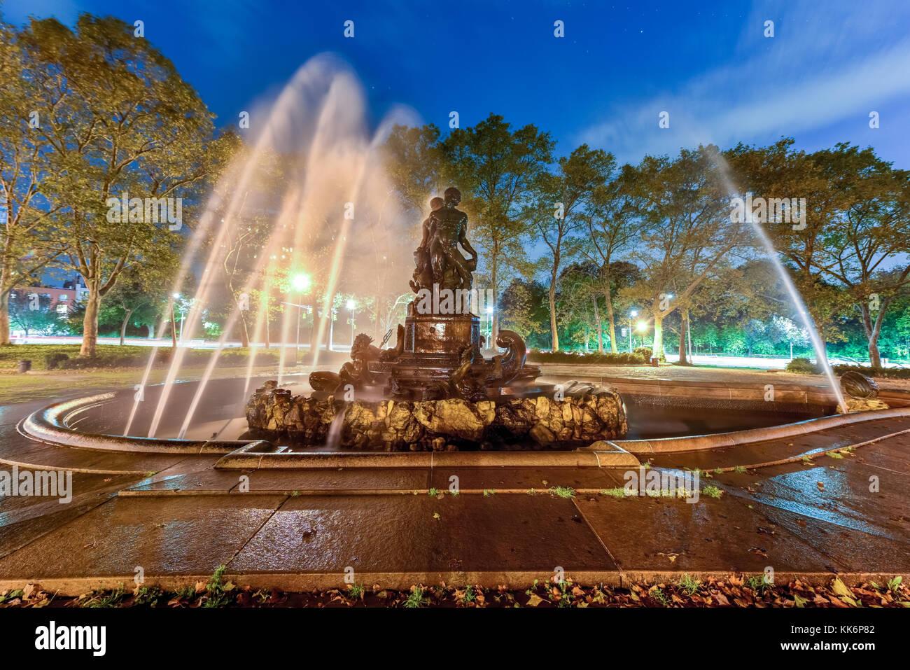 Bailey est une fontaine 19e siècle sculpture en plein air à new york Grand Army Plaza, à Brooklyn, Photo Stock