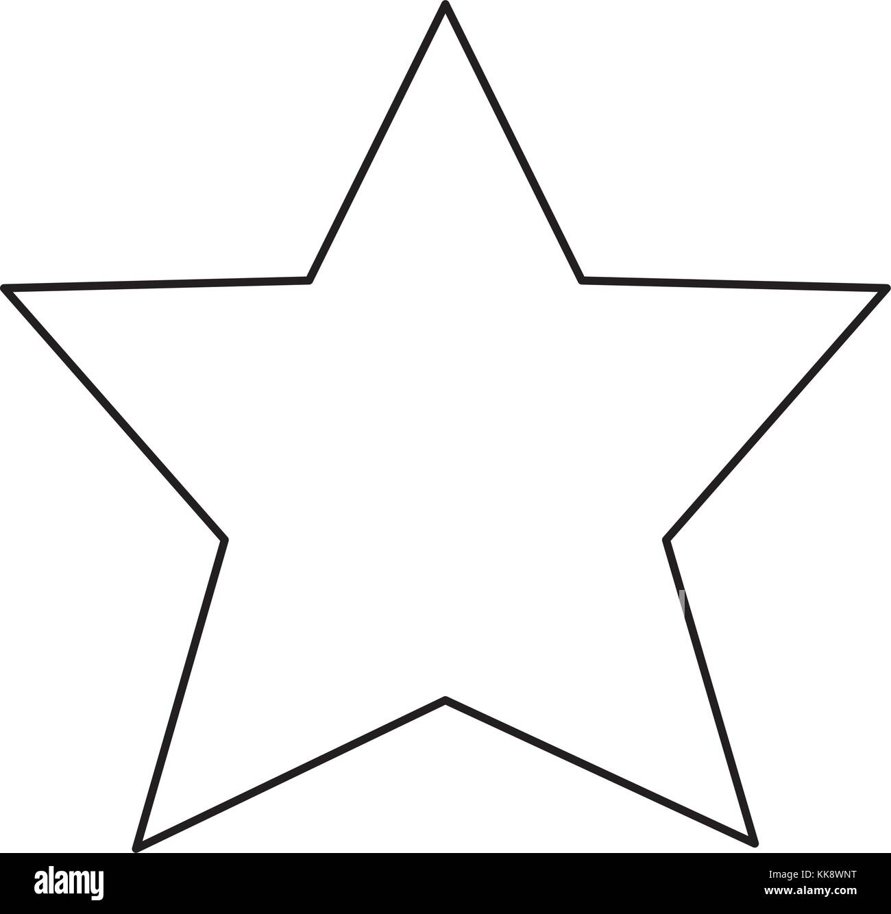 Star vector illustration Photo Stock