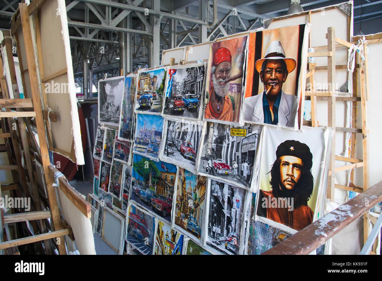 Centro Cultural Antiguos Almacenes de San Jose Deposito, marché de La Havane, Cuba Photo Stock